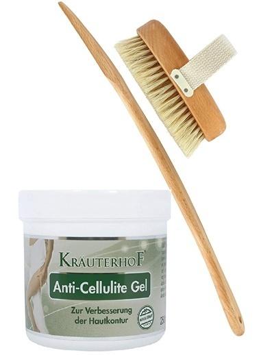 Krauterhof Krauterhof Anti-Cellulite Gel 250ml + %100 Doğal At Kılı Fırçası Renksiz